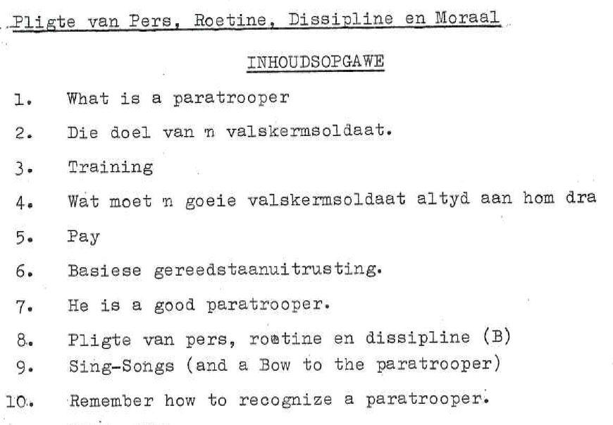 Handleiding: 'n Gids vir 'n Valskerm Soldaat, 1965.